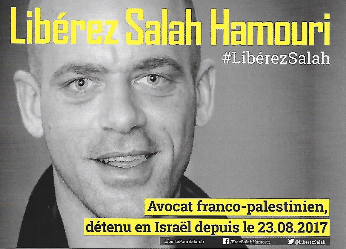 """[# Salah Hamouri solidarité totale : """"J' ai écrit ce courrier a l' attention de Monsieur Macron et du ministère des affaires étrangères. Danise Hamouri"""". Bally Bagayoko]"""