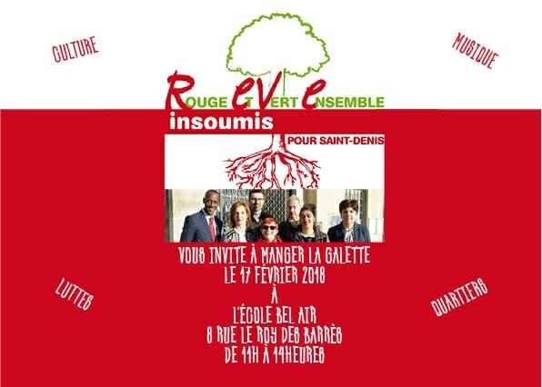 [#Le Groupe REVE INSOUMIS vous invite à un temps d'échange le 17 février 2017 à 11 heures à Saint-Denis quartier Franc-Moisin. Bally BAGAYOKO]