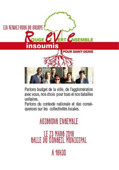 [#Budget de la ville : réunion publique du Groupe REVE Insoumis, pour en parler. Bally BAGAYOKO]