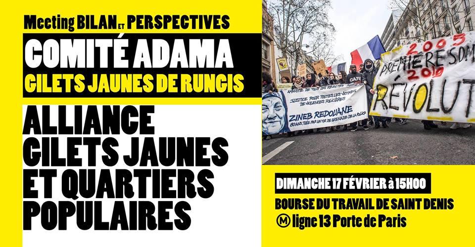 [#Gilets Jaunes de Rungis et Comité Adama : Dimanche 15 février 2019 à Saint-Denis. Bally BAGAYOKO]