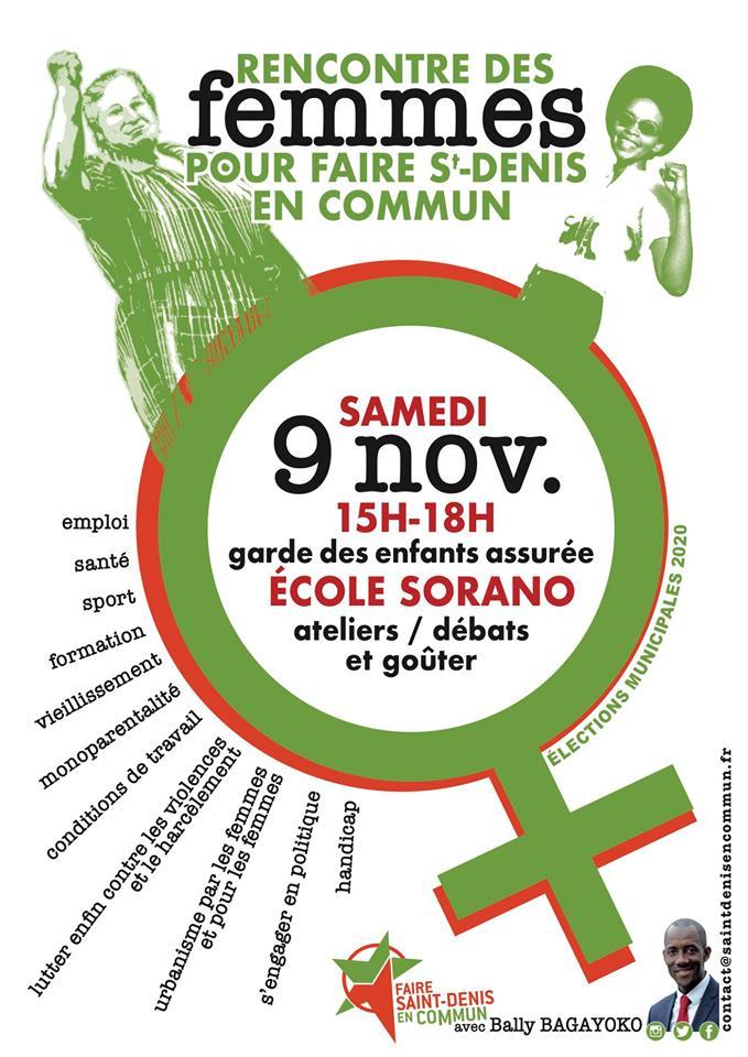 Elections municipales : Rencontre publique autour de la place des femmes !