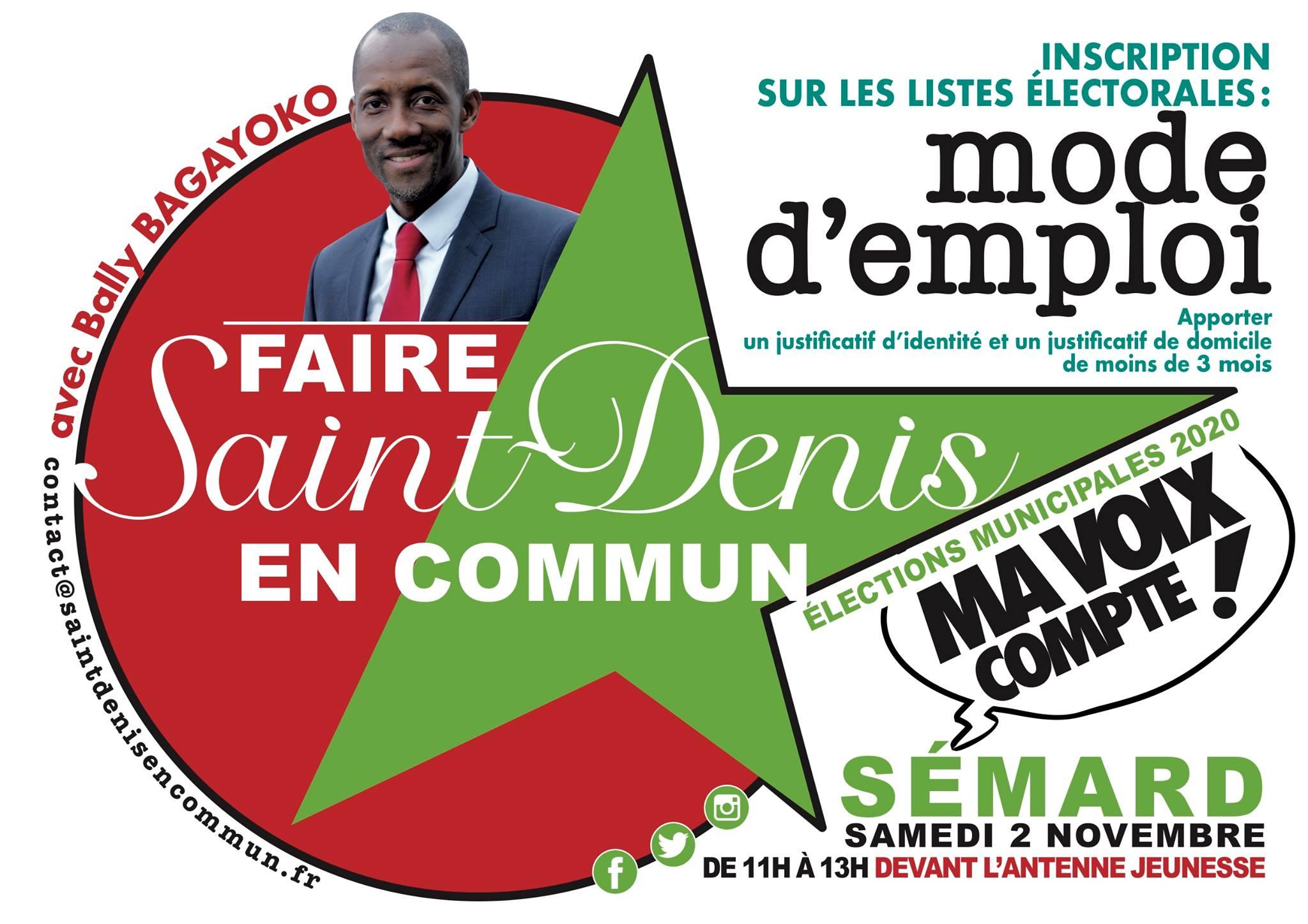 Elections municipales : Opération inscription sur les listes électorales !