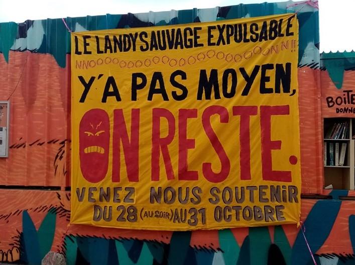 Stop à l'expulsion du Landy Sauvage !